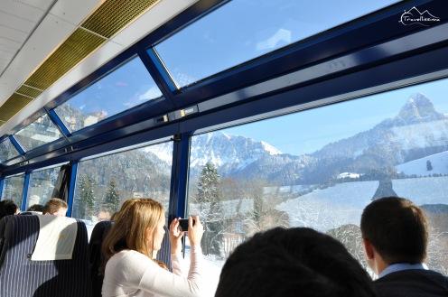 widoki z pociągu panoramicznego