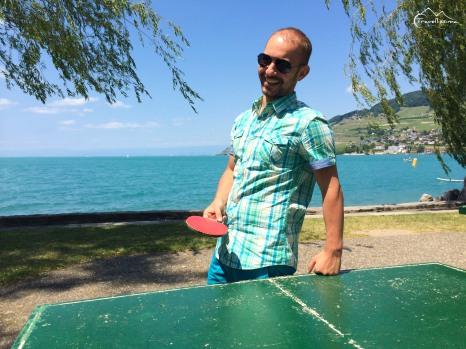 po prostu relaks nad jeziorem