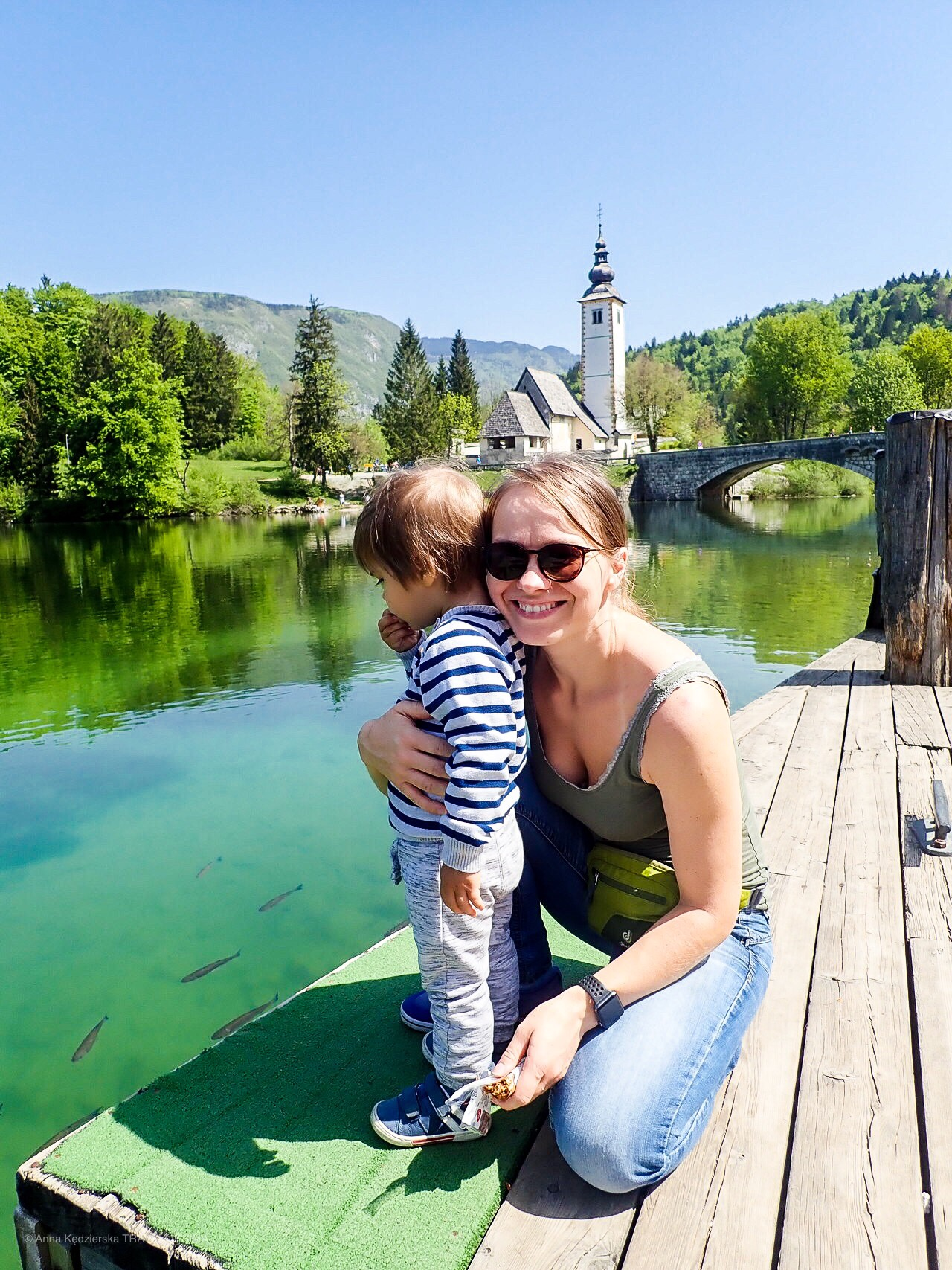 wakacje z dziećmi w Słowenii, Jezioro Bohinj, Anna Kędzierska